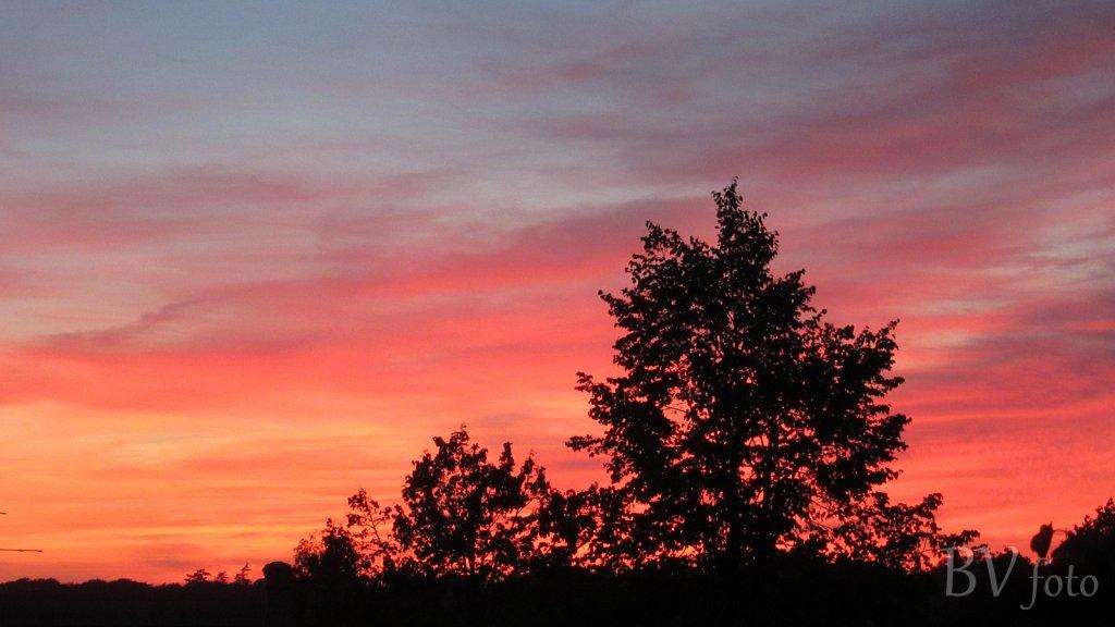 Rød himmel