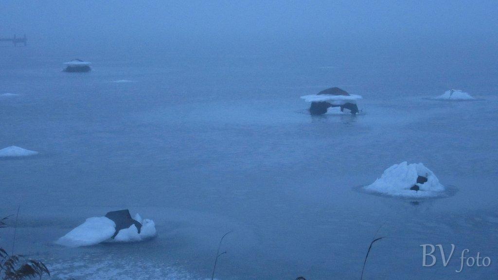 Isdække efter højvande
