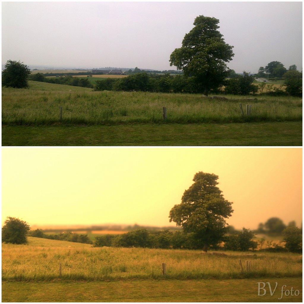 Før og Efter - Dybbøl banke solopgang