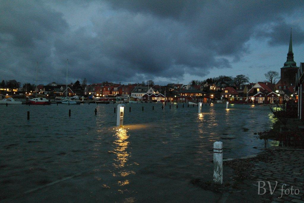 Nysted havn under vand
